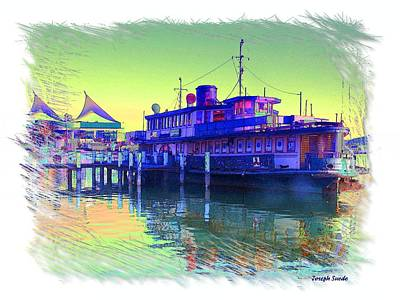 Photograph - Wat-0001 Karrabee Ferry by Digital Oil