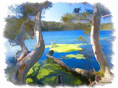 Wat-0002 Avoca Estuary Art Print by Digital Oil