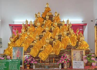 Photograph - Wat Apson Sawan Phra Ubosot 28 Buddha Images Dthb1914 by Gerry Gantt