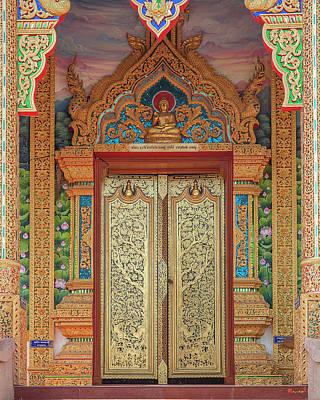 Photograph - Wat Aranyawat Phra Ubosot Doors Dthcm1568 by Gerry Gantt
