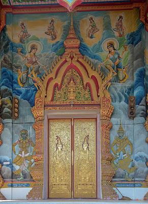 Photograph - Wat Aranyawat Phra Wihan Doors Dthcm1563 by Gerry Gantt