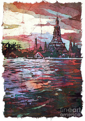 Painting - Wat Arun Sunset by Ryan Fox