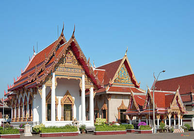 Photograph - Wat Bangphratoonnok Phra Ubosot And Phra Wihan Dthb0557 by Gerry Gantt