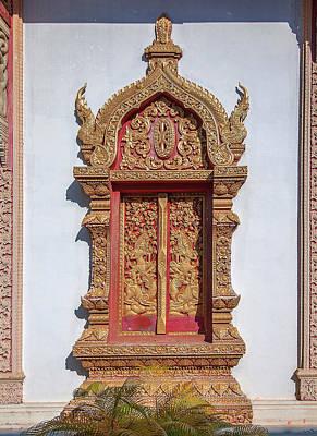Photograph - Wat Buppharam Phra Wihan Window Dthcm1582 by Gerry Gantt
