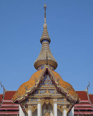 Photograph - Wat Chaimongkron Phra Wihan Gable And Spire Dthcb0090 by Gerry Gantt