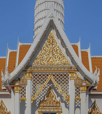 Photograph - Wat Chaimongkron Shrine Gable Dthcb0097 by Gerry Gantt