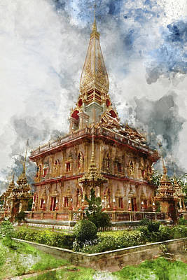 Photograph - Wat Chalong In Phuket Thailand by Brandon Bourdages