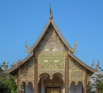 Photograph - Wat Chamthewi Phra Ubosot Gable Dthlu0077 by Gerry Gantt