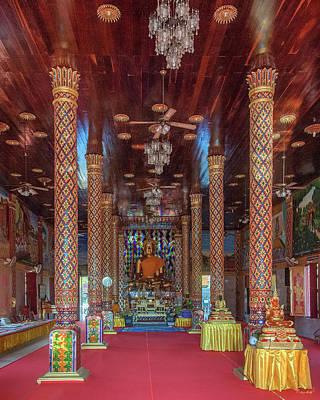Photograph - Wat Chamthewi Phra Wihan Interior Dthlu0058 by Gerry Gantt
