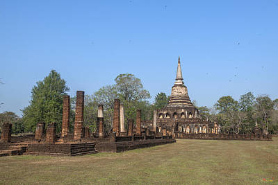 Photograph - Wat Chang Lom Wihan And Main Chedi Dthst0119 by Gerry Gantt