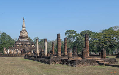 Photograph - Wat Chang Lom Wihan And Main Chedi Dthst0128 by Gerry Gantt