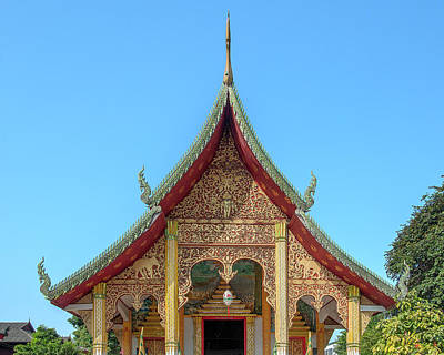 Photograph - Wat Chang Rong Wihan Luang Gable Dthlu0093 by Gerry Gantt