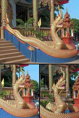 Photograph - Wat Chedi Mae Krua Makara And Naga Collage by Gerry Gantt
