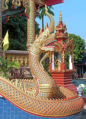 Photograph - Wat Chedi Mae Krua Wihan Makara And Naga Dthcm1862 by Gerry Gantt