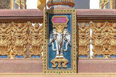 Photograph - Wat Chedi Mae Krua Wihan Veranda Rail Decorations Dthcm1847 by Gerry Gantt