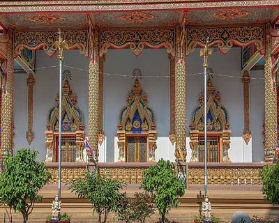 Photograph - Wat Chedi Mae Krua Windows Of Wihan Dthcm1845 by Gerry Gantt