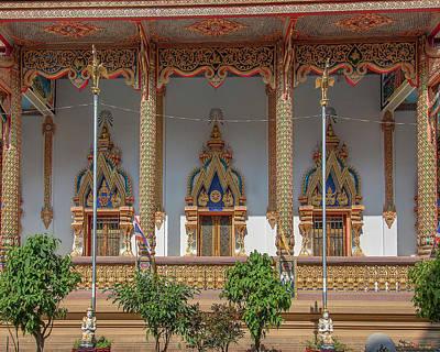 Photograph - Wat Chedi Mae Krua Windows Of Wihan Dthcm1845 by Gerry Gantt
