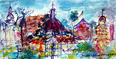 Painting - Wat Chimphli Sutthawat by Wanvisa Klawklean