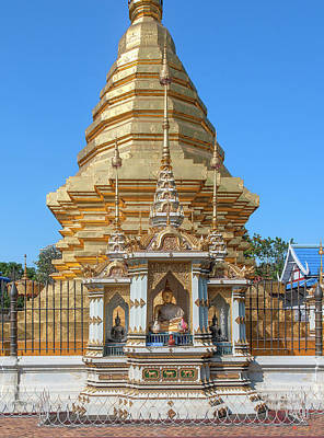 Photograph - Wat Chomphu Phra That Chedi Buddha Shrine Dthcm1219 by Gerry Gantt