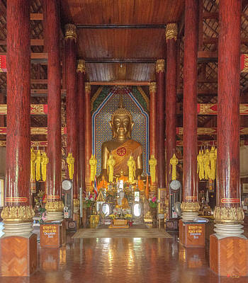 Photograph - Wat Chomphu Phra Wihan Interior Dthcm1209 by Gerry Gantt