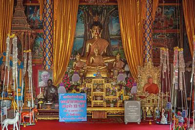 Photograph - Wat Fa Ham Phra Wihan Buddha And Monk Images Dthcm1344 by Gerry Gantt