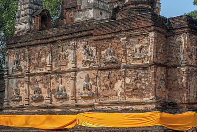 Photograph - Wat Jed Yod Frieze Of Angels Or Deities On Maha Vihara Jedyod Dthcm0903 by Gerry Gantt