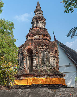 Photograph - Wat Jed Yod Phra Chedi Containing Image Of Buddha Dthcm0911 by Gerry Gantt