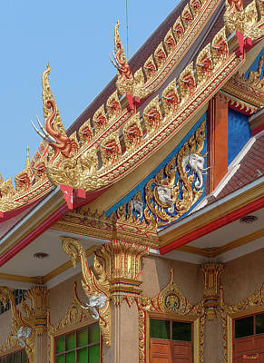 Photograph - Wat Kaeo Phaithun Hall Corner And Gable Dthb1859 by Gerry Gantt
