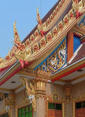 Photograph - Wat Kaeo Phaithun Hall Corner And Gable Dthb1859 by Gerry Gantt