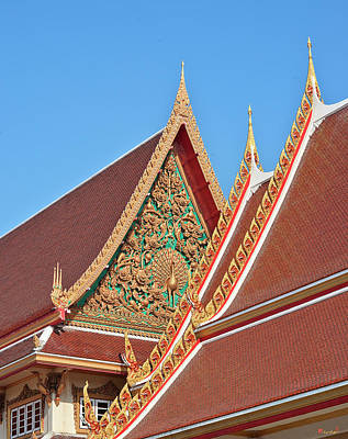 Photograph - Wat Kaeo Phaithun Hall Gable Dthb0847 by Gerry Gantt