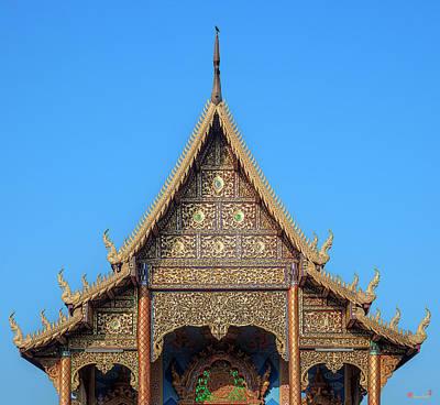 Photograph - Wat Kamphaeng Ngam Phra Wihan Gable Dthcm0993 by Gerry Gantt