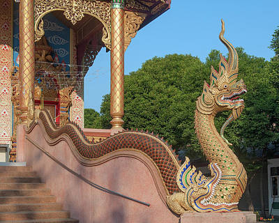 Photograph - Wat Kamphaeng Ngam Phra Wihan Naga Dthcm0996 by Gerry Gantt