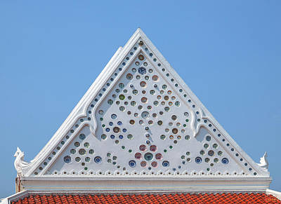 Photograph - Wat Kantatararam Phra Ubosot Gable Dthb2067 by Gerry Gantt