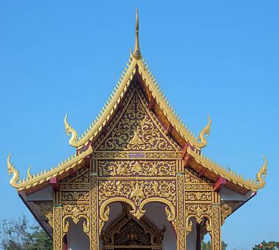 Photograph - Wat Kantharam Phra Ubosot Gable Dthcm1023 by Gerry Gantt