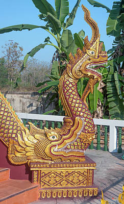 Photograph - Wat Kantharam Phra Ubosot Naga Dthcm1026 by Gerry Gantt