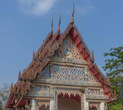 Photograph - Wat Kao Kaew Phra Ubosot Gable Dthcp0020 by Gerry Gantt