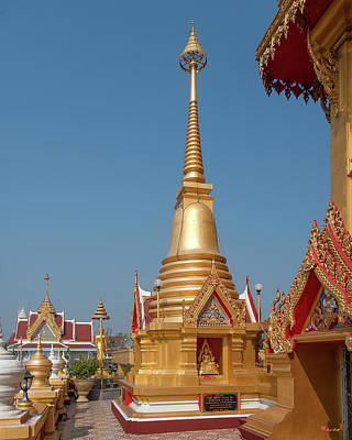 Photograph - Wat Khiriwong Corner Chedi Of Phrachulamanee Chedi Dthns0050 by Gerry Gantt