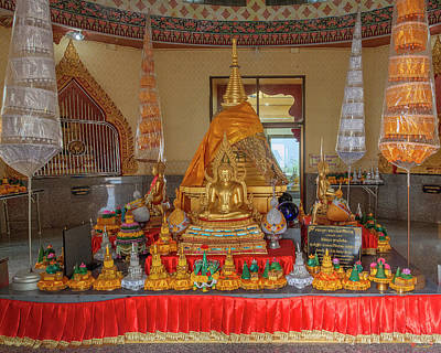 Photograph - Wat Khiriwong Phrachulamanee Chedi Buddha Images Dthns0060 by Gerry Gantt