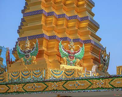 Photograph - Wat Khunchan Merit Shrines Base Of One Of Three Prangs Or Chedi  by Gerry Gantt