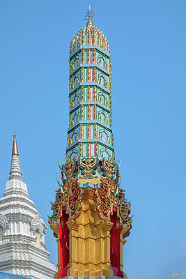 Photograph - Wat Khunchan Merit Shrines Pinnacle Of One Of Three Prangs Or Ch by Gerry Gantt
