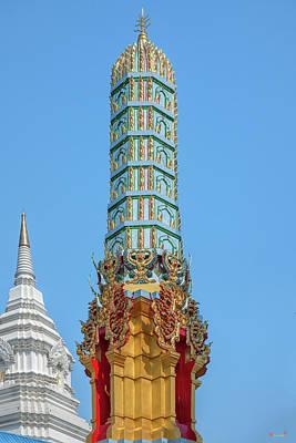 Photograph - Wat Khunchan Merit Shrines Pinnacle Of One Of Three Prangs Or Ch by Gerry Gantt