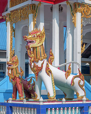 Photograph - Wat Khunchan Meru Or Crematorium Lion Guardians Dthb2042 by Gerry Gantt