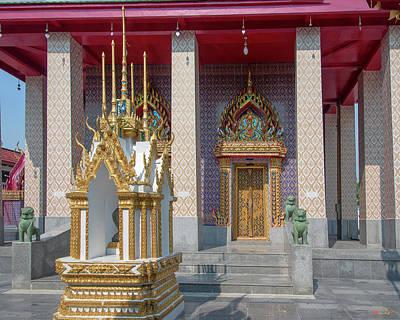 Photograph - Wat Khunchan Phra Ubosot Entrance Dthb2037 by Gerry Gantt