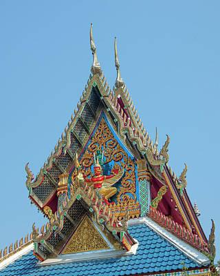 Photograph - Wat Khunchan Wihan Of The White Jade Monk Gable Dthb2044 by Gerry Gantt