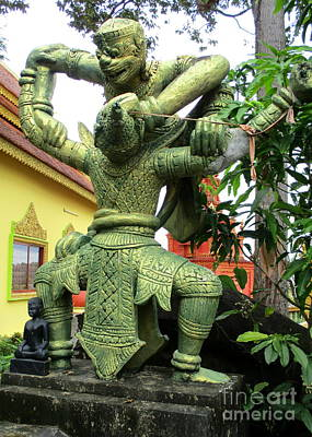 Photograph - Wat Krom 36 by Randall Weidner