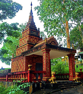 Photograph - Wat Krom Temple 1 by Ron Kandt