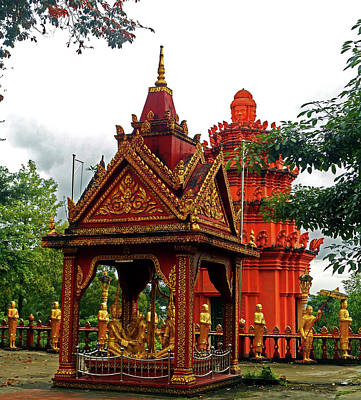 Photograph - Wat Krom Temple 17 by Ron Kandt