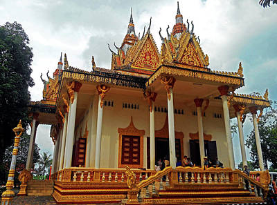 Photograph - Wat Krom Temple 20 by Ron Kandt