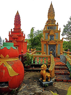 Photograph - Wat Krom Temple 27 by Ron Kandt