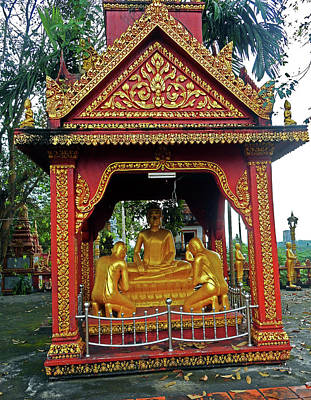 Photograph - Wat Krom Temple 3 by Ron Kandt